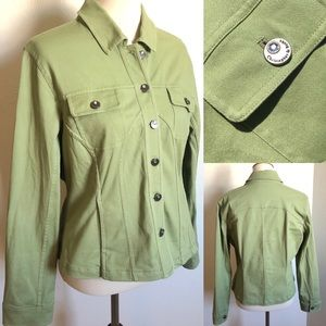 🍀Christopher & Banks Green Button Up Jacket🍀